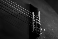 Guitar music instrument macro drammatic picture Royalty Free Stock Photo