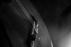 Guitar music instrument macro drammatic picture Stock Image