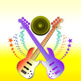 Guitar Music notes Royalty Free Stock Photos