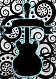 Guitar music spirals poster stock photo