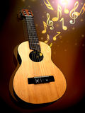 Acoustic guitar. Guitar and music theme background Stock Photography
