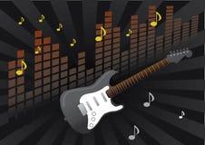 Guitar music vector. With orange spectrum Royalty Free Stock Photo