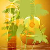 The guitar music Royalty Free Stock Photo