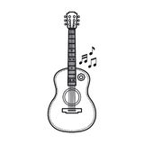 The guitar is a musical instrument. Vector image. Royalty Free Stock Photography