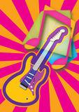 Abstract music theme with guitar vector illustration. Royalty Free Stock Images