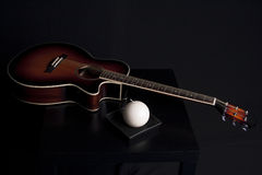 Guitar musical style decoration Stock Images