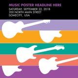 Guitar musical template Stock Photo