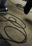 Guitar Musicians Cords stock images