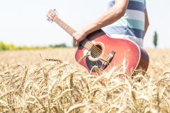 Guitar on the nature Stock Photo