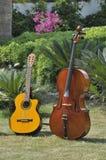 Guitar nd cello Stock Photos