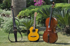Guitar nd cellos Royalty Free Stock Photo
