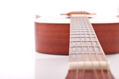 Guitar Neck. Perspective Shot Of Guitar Neck stock images