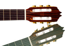 Guitar neck close-up Stock Images