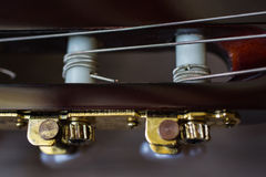 Guitar neck close-up Royalty Free Stock Images