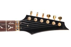 Guitar neck front side. Royalty Free Stock Images