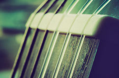 Guitar neck Stock Photography