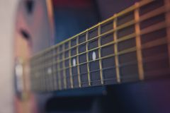 Guitar neck, strings, royalty free stock images