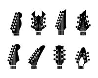 Guitar neck. Vector silhouettes of the guitar neck on a white background vector illustration