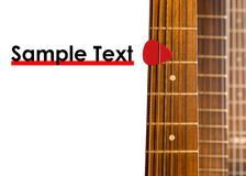Guitar necks Stock Image