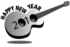 Guitar New Year 2010 Stock Images