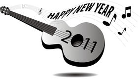 Guitar New Year 2011 Stock Photos