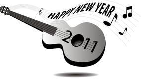 Guitar New Year 2011 Stock Photos