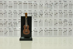 Guitar note. Music design classical sound Stock Illustration