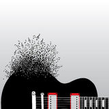 Guitar Notes Burst Royalty Free Stock Photos