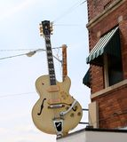 Guitar Outside Of The World Famous Sun Studio Royalty Free Stock Images