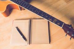 Guitar  paper Stock Photos