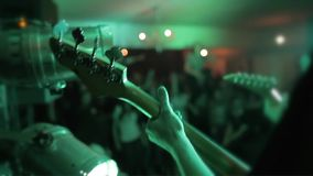 Guitar in the party stock footage