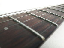 Guitar neck at angle Royalty Free Stock Photography