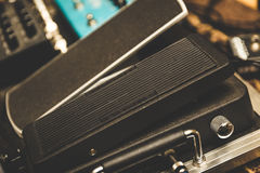 Guitar pedal board Stock Photography