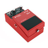 Guitar pedal isolated. Red color Stock Photography