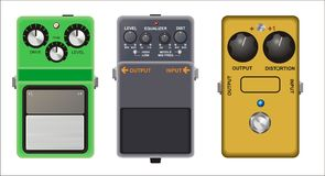 Guitar Pedals Stock Photography