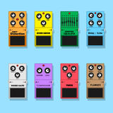 Guitar pedals Royalty Free Stock Images