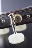 Guitar peg closeup Royalty Free Stock Images