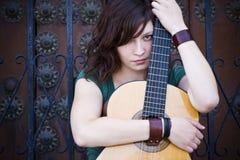 guitar performer young Στοκ φωτογραφία με δικαίωμα ελεύθερης χρήσης