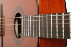 Guitar perspective Royalty Free Stock Image