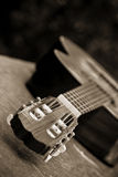 Guitar in perspective Royalty Free Stock Images