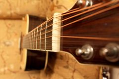 Guitar in perspective stock image