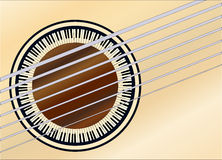 Guitar Piano Soundhole Stock Image