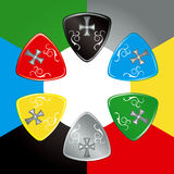 Guitar Pick. Colorful illustration of Guitar Pick Stock Photography