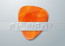 Guitar Pick and Music Notes Background Stock Photos