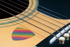 Guitar pick strings Background Royalty Free Stock Images