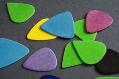 Guitar picks Royalty Free Stock Photography