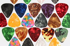 Guitar picks stock photos