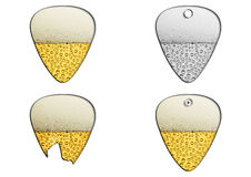 Guitar picks with beer texture Stock Images