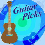Guitar Picks Indicates Rock Guitarist And Play Stock Photography