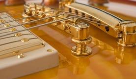 Guitar Pickup and Bridge Stock Images